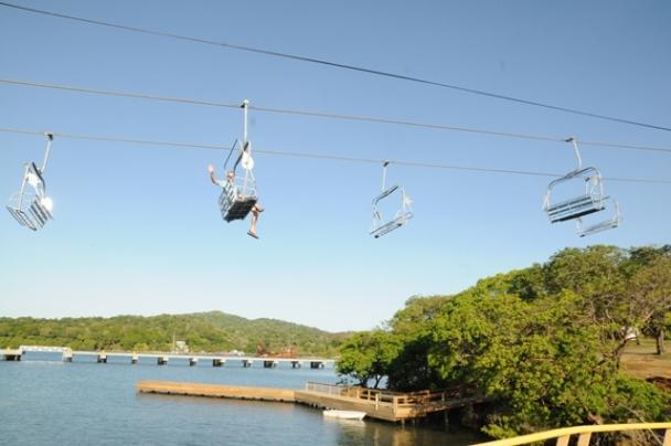 Ski Style Chair Lift Debuts At Mahogany Bay Cruise Center In Roatan
